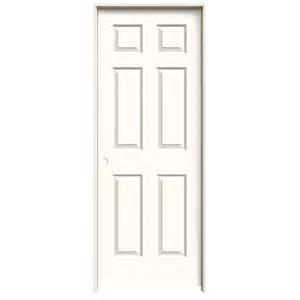 24 Interior Door Shop Jeld Wen White 6 Panel Single Prehung Interior Door Common 24 In X 80 In Actual 25 562