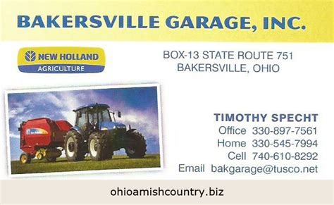 Bakersville Garage bakersville garage inc ohio amish country biz
