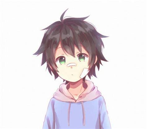 anime boy hair boy black hair green bandages hyakuya