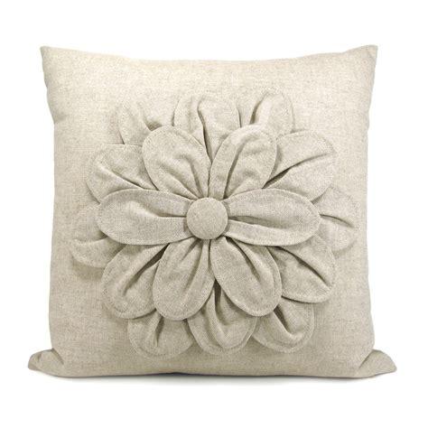 Flower Pillows Etsy linen flower pillow pillows