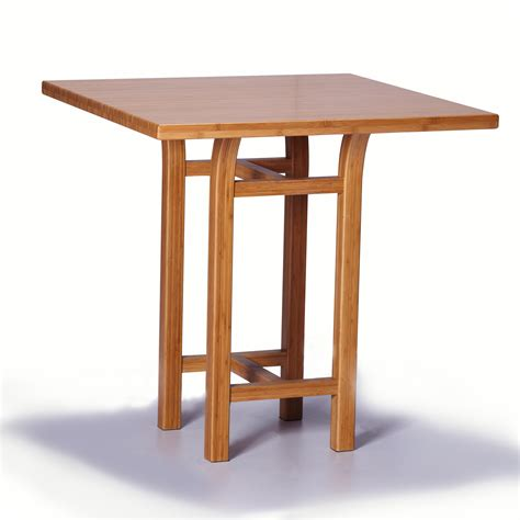 Counter Height Table greenington tulip counter height table in classic bamboo