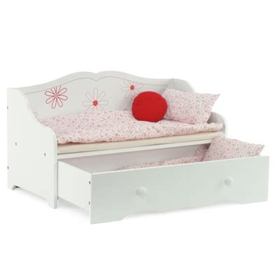 american girl trundle bed 18 inch doll furniture day bed with trundle storage