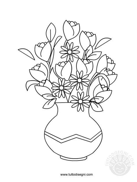 vasi con fiori da colorare disegno di vaso con fiori tuttodisegni