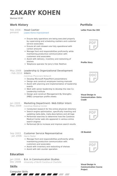 Sample Cook Resume by Head Cashier Resume Samples Visualcv Resume Samples Database