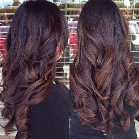 brunette red hairstyles 15 dark hair colour ideas popular haircuts