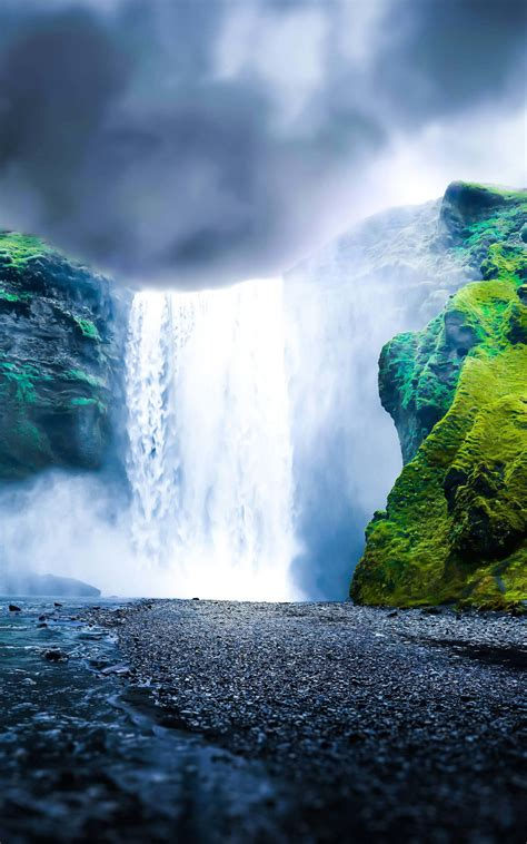 how to get wallpaper on kindle fire download dreamy waterfall hd wallpaper for kindle fire hdx