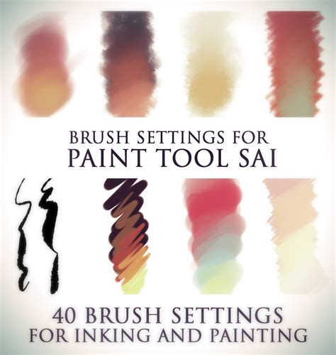 paint tool sai pack brush settings for paint tool sai by elephantwendigo