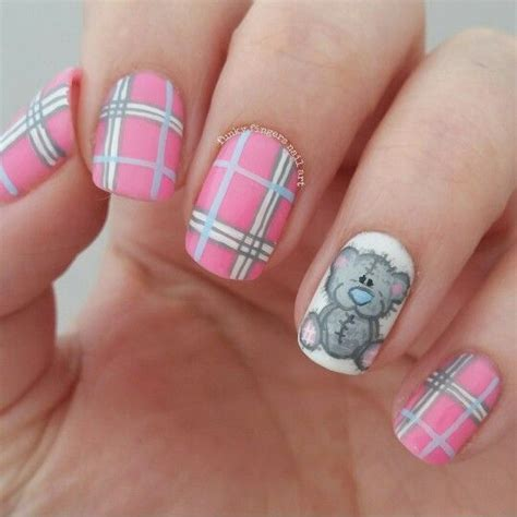 argyle pattern nail art teddy bear nails olaf pinterest manicure nail nail