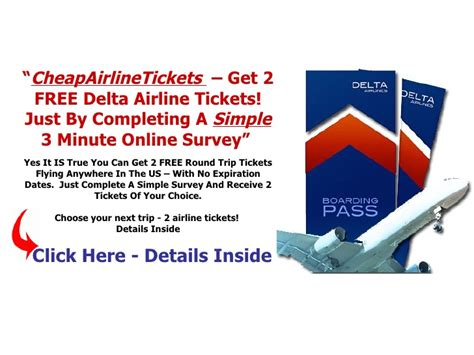 cheapairlinetickets get 2 free delta airline tickets here