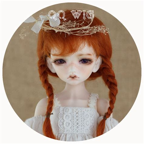 1 3 1 4 1 6 Bjd Wig Heat Resistant Curly 2017 new arrival 1 3 1 4 1 6 bjd wig msd sd yosd lovely two with braid fashion mohair hair wig