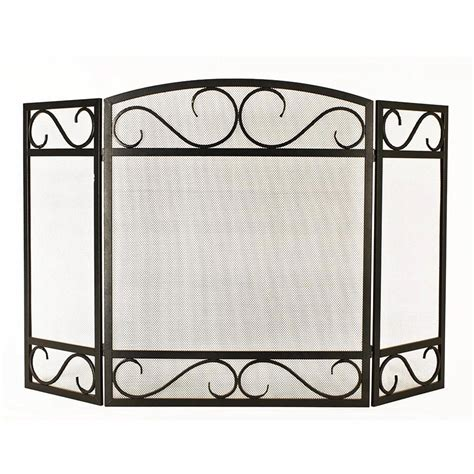 Fireplace Protective Screen by Shop Style Selections 50 15 In Black Powder Coated Steel 3