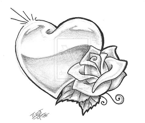 heart and rose tattoo design 10 white sles and design ideas