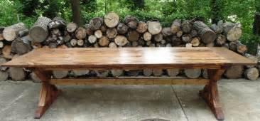 Farm Style Dining Room Table handmade reclaimed wood trestle x style farmhouse table by