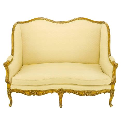 wingback settee for sale yale burge louis xv wingback settee for sale at 1stdibs