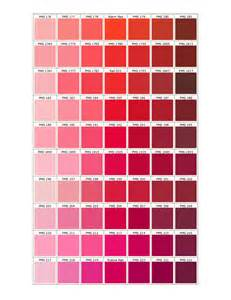 Mood Color Chart pantone matching system
