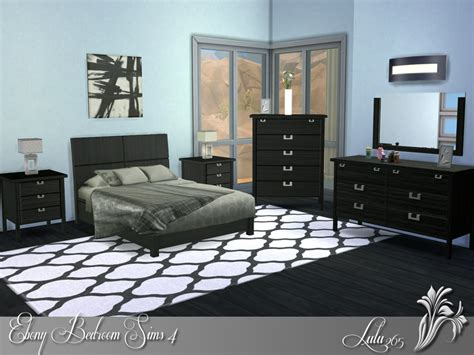 sims bedroom lulu265 s ebony bedroom sims 4