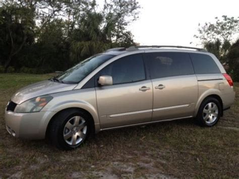 nissan quest sunroof sell used 2006 nissan quest se leather dvd bose sound