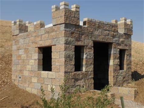 build a small castle castle construction building a split face block castle