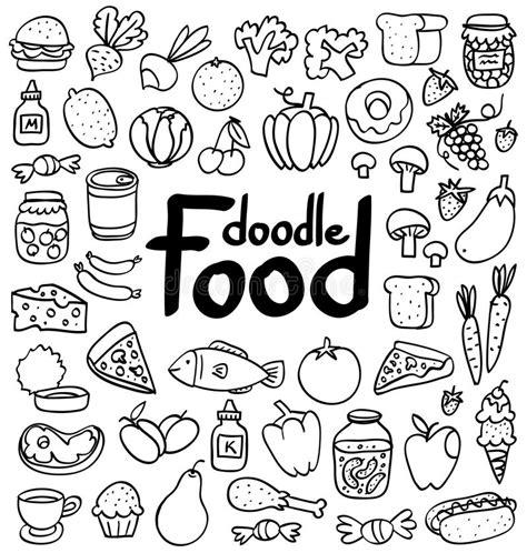 food doodle brushes food doodle stock photo image 31221910
