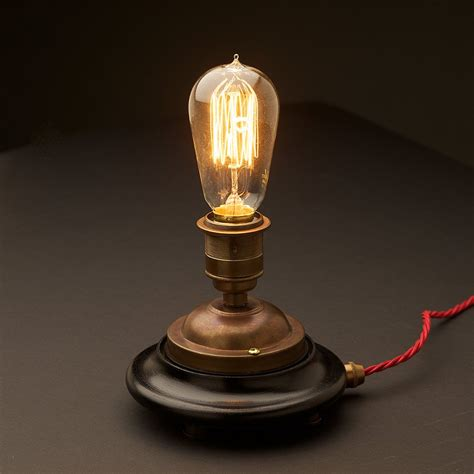 Small Globe Table Lamp by Vintage Glass Tube Brass Table Lamp