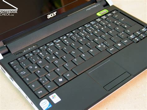 Keyboard Netbook Acer Review Acer Aspire One D150 Netbook Notebookcheck Net