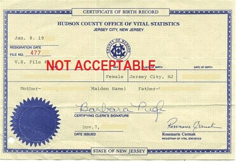 New Jersey Vital Records Birth Certificate New Jersey Birth Certificate With An Apostille