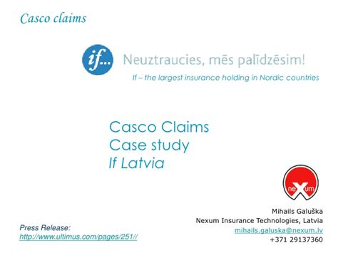 Submitted For Automated Settlement Claim Search Casco Insurance Claims Handling If P C Insurance Study