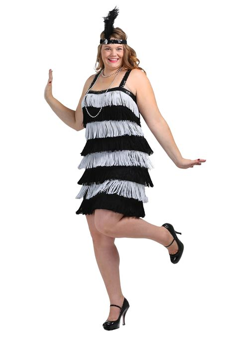 plus size flapper costume 1920s costumes 20s halloween black and silver flapper plus size costume chicago costume