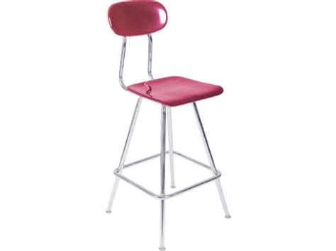 Lab Stool With Back by Adjustable Lab Stool With Plastic Seat And Back Acs