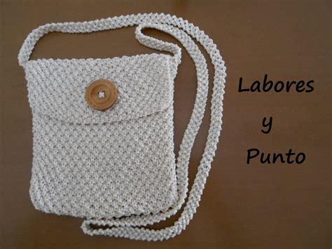 tejer bolsas sencilla a ganchillo aprende como tejer y coser un bolso peque 241 o de colgar