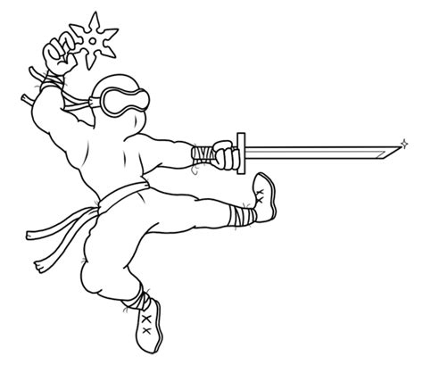 cartoon ninja coloring pages cartoon ninja step by step drawing lesson