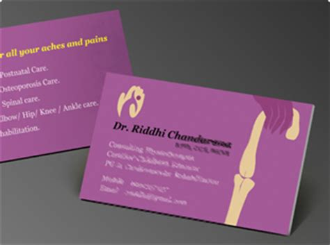 Furniture Design Software business card design and printing for dental care clinic