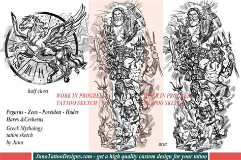 greek mythology tattoo poseidon hades hares zeus how to