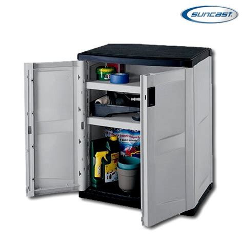 suncast storage cabinets with doors suncast c3600g 2 door utility base cabinet