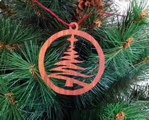 scroll saw christmas tree christmas ornament by