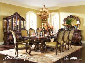Aico Dining Room Sets Michael Amini Chateau Beauvais Formal Dining Room Set