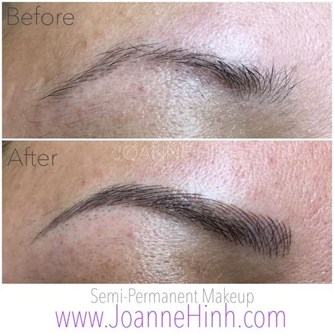 permanent eyebrow tattoo hairstroke eyebrow embroidery by joanne hinh brow