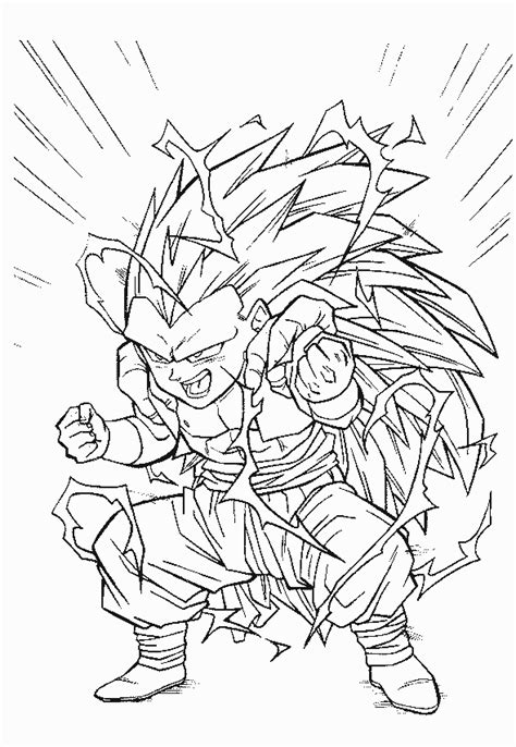 goku super saiyan 3 coloring pages coloring home