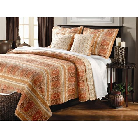 Oversized Quilts For King Beds by Taj Oversized King Size 3 Quilt Set Overstock