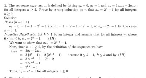 discrete math strong induction choosing between showing