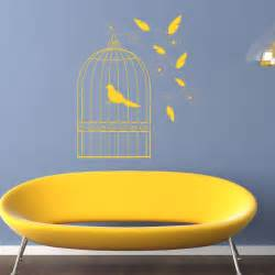 Birdcage Wall Stickers Bird Cage Floral Decorative Wall Stickers Wall Art Decal