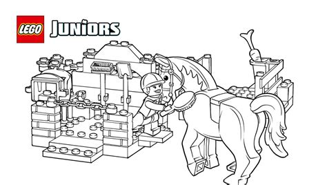 lego junior coloring pages lego 174 juniors pony grooming coloring page coloring pages