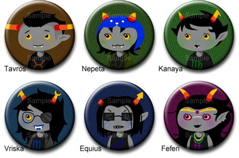 homestuck troll button set 2 by roseannepage on deviantart