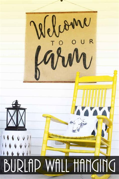 How To Make Handmade Wall Hanging - handmade wall hanging from burlap the country chic cottage