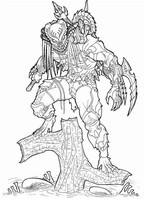 Predator Mask Coloring Pages by Predator Mask Coloring Pages