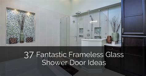 Wood Wall Ideas 37 fantastic frameless glass shower door ideas home