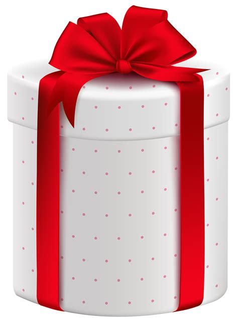 Bow Gift Box white gift box with bow png clipart image what s in