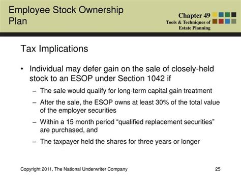 section 1042 esop ppt what is an employee stock ownership plan esop