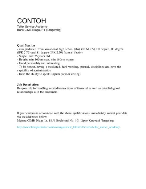 Contoh Application Letter Bahasa Indonesia Fresh Graduate Contoh Cover Letter Fresh Graduate Bahasa Inggris Docoments Ojazlink