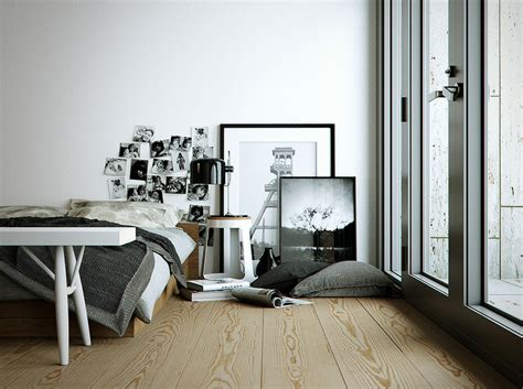 monochrome bedroom interior design ideas